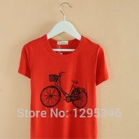 baby bicycle clothing - summer New bicycle boys clothing girls baby short sleeve Modal T shirt boy tops clothes bike pattern