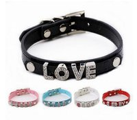alphabet dogs - New listing hot sales DIY Fake Crocodile Pu leather pet dog collar for dogs five color exclude alphabet letter and charms