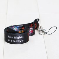 Wholesale 10pcs FNAF Five Nights At Freddy s Lanyard phone Neck Strap for ID Pass Card Phones Camera MP3 Holder toy