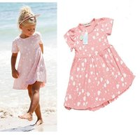 baby boy summer wedding outfit - 2016 summer outfits Baby Kids Girls Party Wedding dresses Polka heart Flower Dress baby girl clothes kids clothes