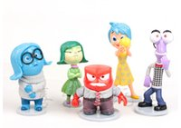 Wholesale Inside Out Figure toys New Cartoon Japanese Animation set PVC Figure Five Emotions Anger Joy Fear Disgust Sadness Plush