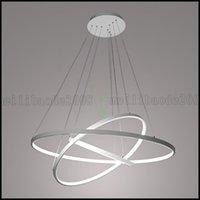 bedroom showrooms - 90WPendant Light Modern Design LED Three Rings V V Special for office Showroom Living Room LLWA126