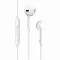 Wholesale 2016 Hot sale universal white Earphones headset High Quality In ear headphone with Mic Volume Control and Retailbox Free Shippment