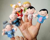 Cheap New Hot 6Pcs Family Members Children Finger Puppets Baby Tell Stories Helper Stuffed Plush Doll Christmas Gift Educate Kids Toy
