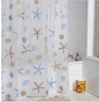 Wholesale 2014 NEW Large size PEVA Waterproof Fashion Starfish Bathroom Shower curtains ETH