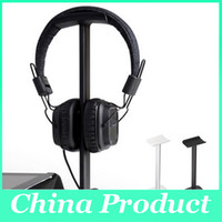 abs earphones - Wholsale high Quality ABS PC Headphones Stand Gaming headset display U type Walnut ABS PC Headset Holer Earphone Display Rack