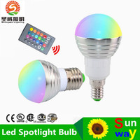 aluminum globe - LED W RGB globe bulb Colors RGB bulb Aluminum V Wireless Remote Control E27 dimmable RGB Light color change led bulb