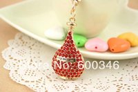 beautiful parfum - hollow Beautiful Sparking Fashionable Crystal A Bottle Parfum Key Chains Jewelry