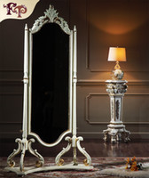 antique reproduction mirrors - Antique reproduction classic solid wood bedroom furniture European palace classic furniture Dressing mirror
