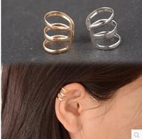 best earring backs - ea593 best selling retro style hollow U shaped ear bone clip earrings invisible without pierced ears birthday gift