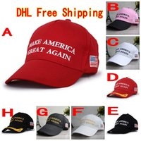 ball america - 120Pcs Make America Great Again Hat Donald Trump Republican Snapback Sports Hats Baseball Caps USA Flag Mens Womens Fashion Cap F765