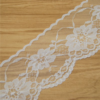 Wholesale High Quality Elegant mm white Lace Fabric Trim Gorgeous Cheap Lace Ribbon DIY Packing Trim Garment Accessories yards L730