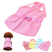 apparel deals - Super Deal dog clothing Dog Puppy Wedding Party Lace Skirt Clothes Bow Tutu Princess Dress Pet Apparel dogs clothing cachorro XT