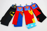 Wholesale Size Styles Fashion personality Super hero Batman superman mixed women gift Cosplay cloak Long socks