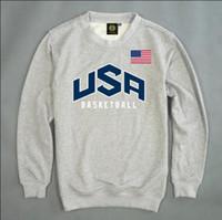 basketball team jackets - USA Basketball Team Men s Casual Autumn Winter Cotton Sweatshirts Man Sports Red Gray Jacket Pullover Men Sportswear M XXL
