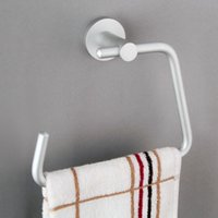 Wholesale Space Aluminium Towel Ring Towel Rack Holder Wall Mounted Towel Holder Bathroom Accessories Products JI0170