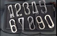 Wholesale Original SANRENMU SRM Cr13 Steel Eries Lucky Number Five Stainless Steel Carabiner Tool SK001D SK010D