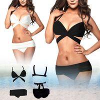 bandeau bikini tops - Hot New Swimsuits Sexy Women s Bandeau Bikini Set Push Up Padded Bra Swimwear Top Bottom Swimsuit Bikini Set K111
