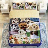 beagles dogs - 3D Animals Huskies Beagles Perky Pug Cute Dog Print Bedding Set Twin Queen King Size Bed Sheet Duvet Cover for Children or Adult