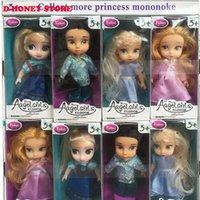 Wholesale 2016 New Baby Dolls cm Snow Queen Princess Anna Elsa Dolls Mini Elsa Doll Kids Toys carttoon dolls children gift Girls birthday