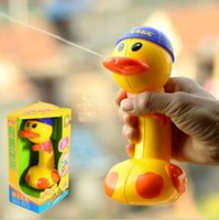 beach temperature - D75 Baby bath bathing duck color long range temperature water gun children beach excellent interesting bath Classic toys