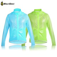 Wholesale 2016 WOSAWE Ultrathin Cycling Raincoat Outdoor Sport Clothing Breathable Bicycle Riding Jersey Waterproof Coat