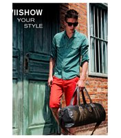 Wholesale 3 Colors Men Plain Pu Shoulder bag handbag messenger bag travel bag duffel bag