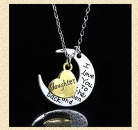 big love family - 10Styles new creative Necklace quot I Love You To The Moon and Back quot Necklace big family Lobster Clasp Pendant Necklaces