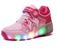 roller skate shoes - 2016 NEW LED Light heelys roller shoes for girls wheelys Children Roller Skate Shoes Kids shoes Sneakers With Wheels zapatillas ruedas