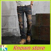 asian medium - Fashion Men Jeans Men s Jeans Denim Casual Pants Trousers Asian size IBR