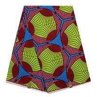 batik textiles fabric - Beautiful flower pattern African painting super wax fabric hollandais real batik wax textile for party dress cotton yards pc