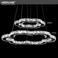 Cheap Hot Selling Diamond Ring Crystal Light Fixture LED Pendant Light suspension Flower shape LED Lighting Circles Drop Lamp