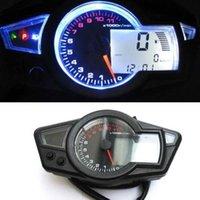Wholesale LCD Digital Odometer Speedometer Tachometer Motorcycle W Backlight K RPM