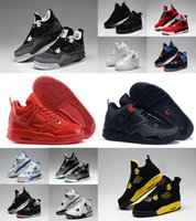 authentic cheap basketball shoes - Cheap New Retro IV authentic men basketball shoes high quality Cement Fire Red Fear for men running shoes