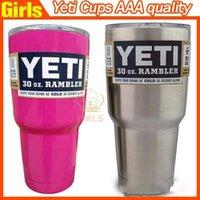 Wholesale Bilayer Stainless Steel Insulation Cup OZ YETI Rambler Cups Cars Beer Mug Large Capacity Yeti Mug Tumblerful