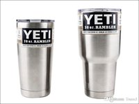 Wholesale YETI Cup20oz oz Cups YETI Rambler Tumbler Travel Vehicle Beer Mug Double Wall Bilayer Vacuum Insulated Stainless Steel