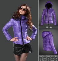 argyle snow - Winter jacket women White duck down jacket purple coat Inclined zipper Snow skiing women winter hooded jackets