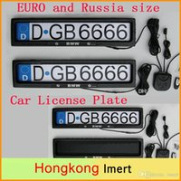 Wholesale Plastic Car License Plate Frame EURO and Russia size Remote Control Car Licence Frame Cover Automatic Plate Privacy