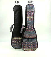 Wholesale Fashional Vintage inch soprano concert tenor ukulele bag backpack case soft gig padded pattern creative gifts for kids girl boy