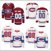 authentic names - Customized Men s Montreal Canadiens Custom Any Name Any Number Ice Hockey Jersey Authentic Jersey Embroidery Logos size M XL