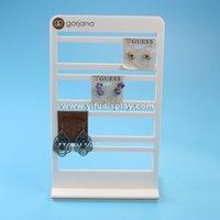 acrylic card rack - White Acrylic Earrings Card Display Stand Acrylic Earrings Card Holder Acrylic Earring Holder Earrings Display earing holder
