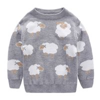 Wholesale kids sweater pullover autumn boy girl clothes new brand cartoon sheep toddler sweaters high quality cute children outerwear christmas