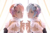 Wholesale cosplay wig ZERO Starting Life in Another World Ram pink close face short hair
