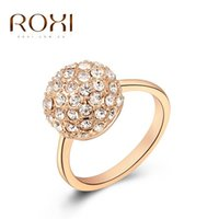 Wholesale ROXI Gifts Genuine Austrian Crystals Rings Top Quality Beautiful Hand Madeball Jewelry new style