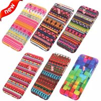 aztec iphone case - 360 Degree Coverage Full Body Hard PC Case Aztec Tribal Tempered Glass Screen Protector Colorful For Iphone SE S S Plus I6 Skin Luxury