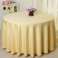 Wholesale 8 Colors cm High quality Polyester Tablecloths Round Hotel tablecloth for Christmas Wedding Party Banquet Round Floral Tablecloths