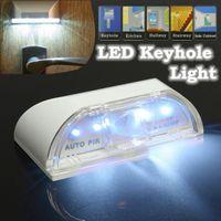 Wholesale 4 LED Auto PIR Keyhole Light Infrared IR Wireless Sensor Motion Detector Lamp