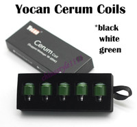 Wholesale Authentic Yocan Cerum Atomizer Replacement Coils Quartz Dual Coils QDC For Yocan Cerum Wax Vaporizer Colors Available Fast Shipping