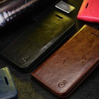 bag holder stand - 100 Real Genuine Leather Case for iphone s Stand Wallet Flip Cases Cover With Card Holder Phone Bag Stand galaxy s7 case