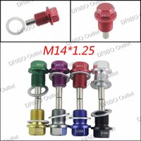 Wholesale M14 P1 MM Magnetic Oil Drain Plug Aluminum Bolt Oil Sump drain plug For Most Ford All other vehicles with x1 threaded